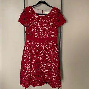 Anthropologie Short-Sleeved Mid-Length Dress